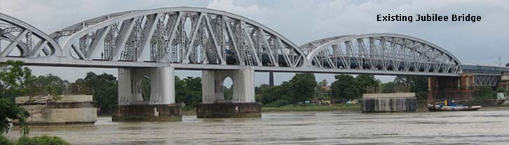 You are browsing images from the article: New Railway Bridge across River Hoogly Between Naihati - Bandel Section